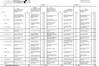5S Audit Templates | MudaMasters